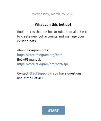 работа с BotFather