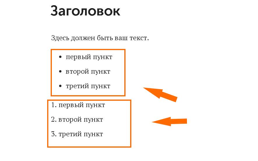 Виды списков