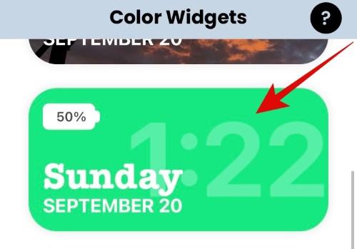 выбор цветного виджета на айфон
