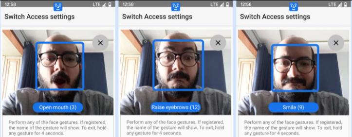 тестирование жестов для управления экраном
