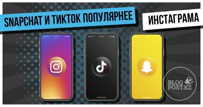 Snapchat и ТикТок популярнее Инстаграма среди подростков