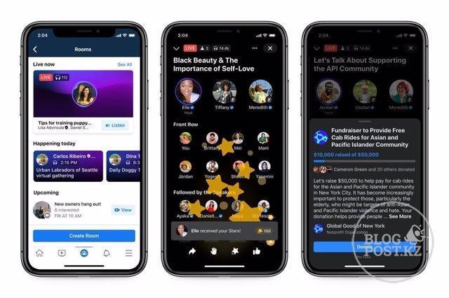 Facebook представляет подкасты и аудио-комнаты в прямом эфире, свой клон Clubhouse