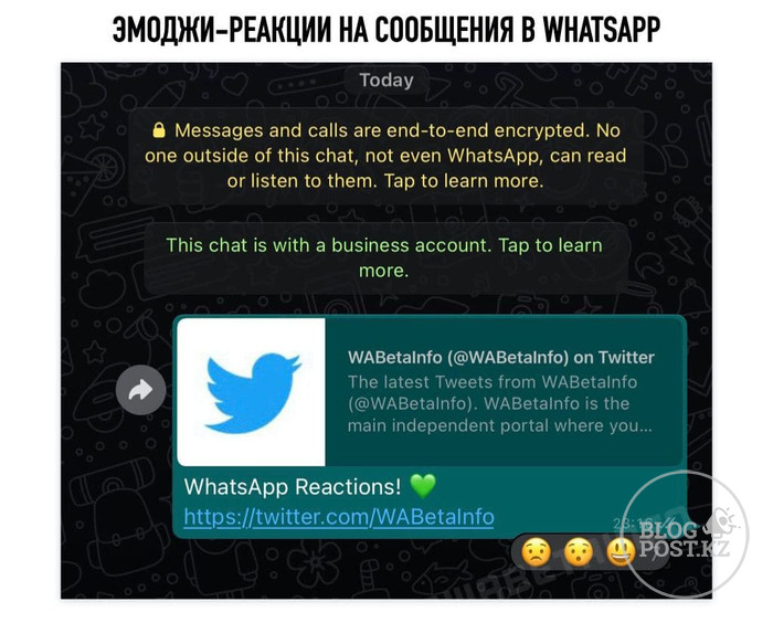 В WhatsApp появятся эмоджи-реакции